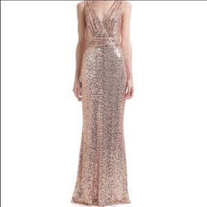 Prom dress rose gold